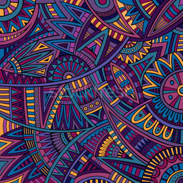 Abstract vector tribal ethnic background pattern Stock photo © balabolka