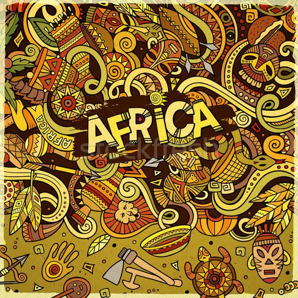 Desenho animado bonitinho África quadro Foto stock © balabolka