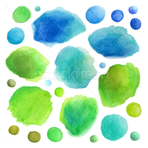 Watercolor vector stains Stock photo © balabolka