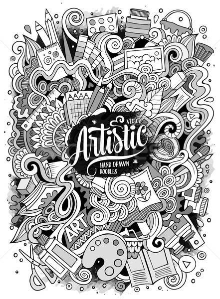 Desenho animado bonitinho artístico ilustração Foto stock © balabolka