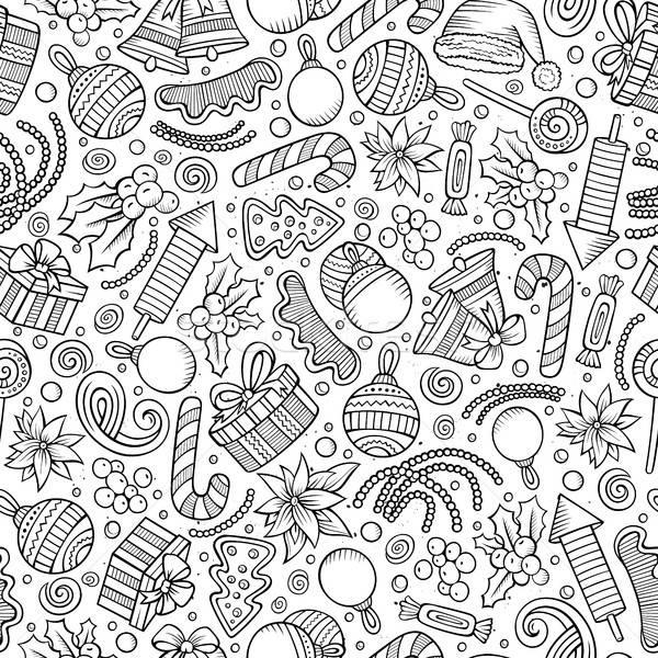 ストックフォト: 漫画 · かわいい · 手描き · 行 · 芸術