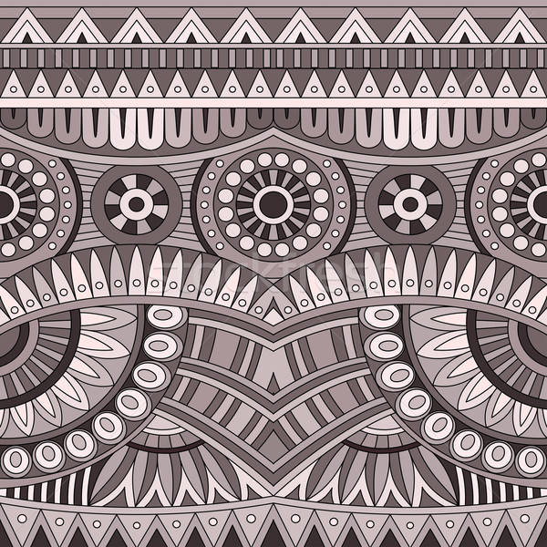Abstract vector tribal ethnic seamless pattern Stock photo © balabolka