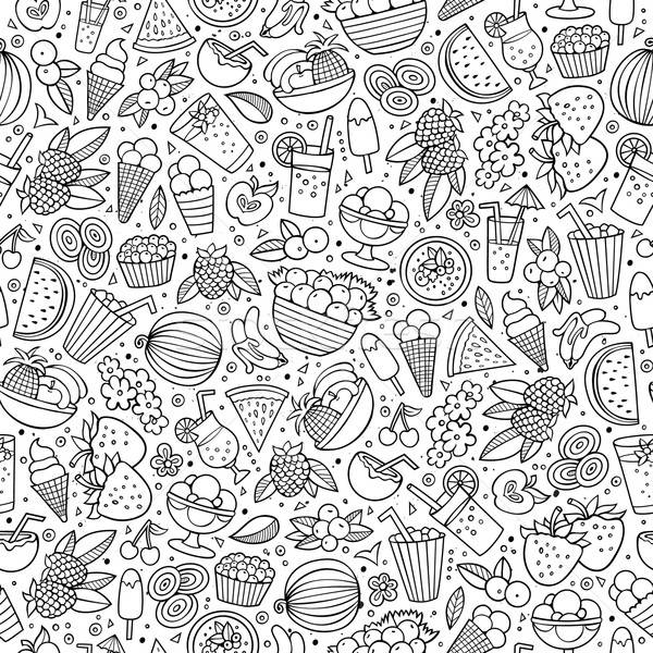 Cartoon summer time seamless pattern Stock photo © balabolka