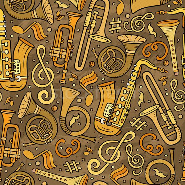 Cartoon klassiek muziek symbolen objecten Stockfoto © balabolka