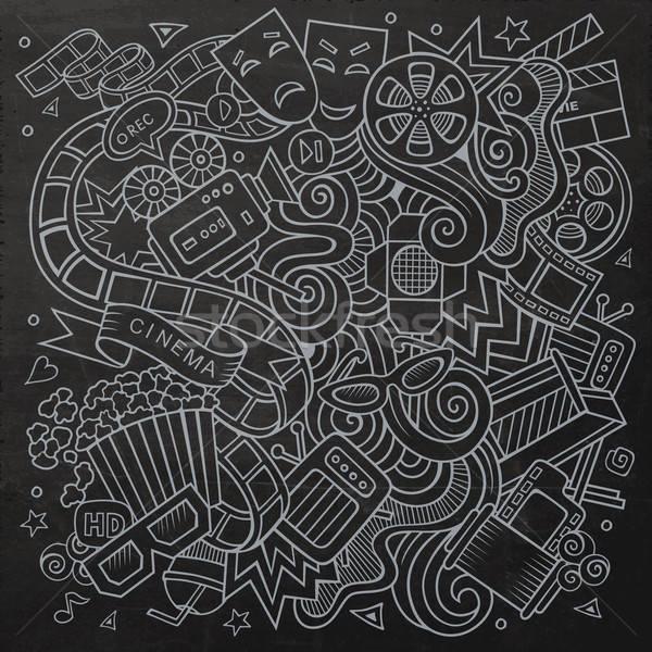 Foto d'archivio: Cartoon · vettore · cinema · doodle · design
