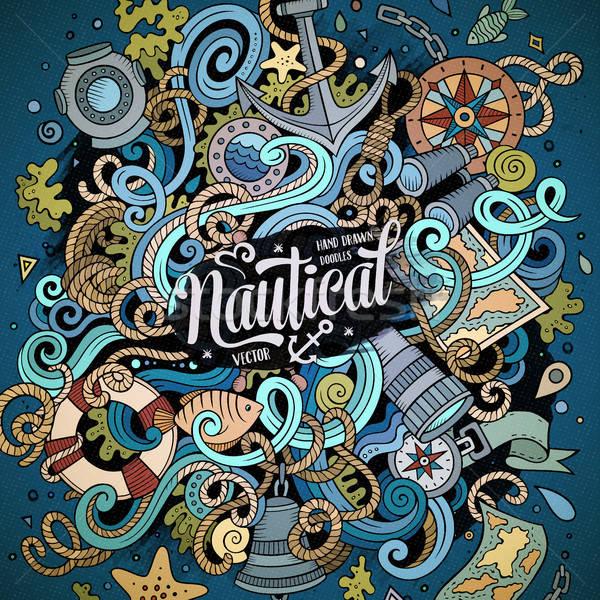 Zdjęcia stock: Cartoon · cute · bazgroły · morski · ilustracja
