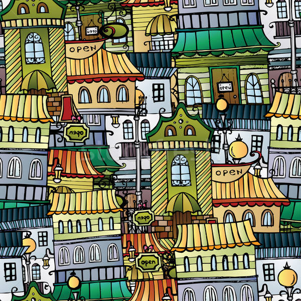 Cartoon vector fairy tale drawing town Stock photo © balabolka