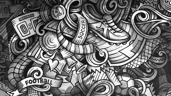Firkák futball grafika illusztráció kreatív futball Stock fotó © balabolka