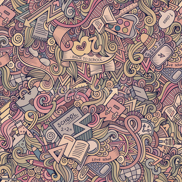 school seamless pattern Stock photo © balabolka