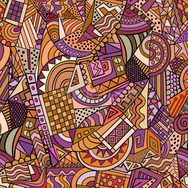 Geometric forms seamless pattern Stock photo © balabolka