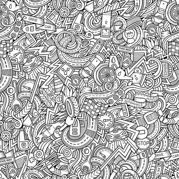 Karikatür karalamalar araba stil Stok fotoğraf © balabolka