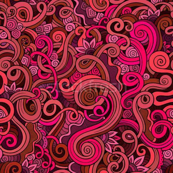 Decorative doodle nature ornamental curl  seamless pattern Stock photo © balabolka