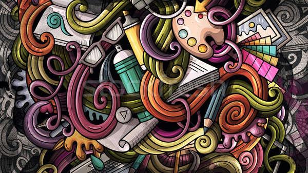 Firkák grafikai tervezés illusztráció kreatív művészet színes Stock fotó © balabolka