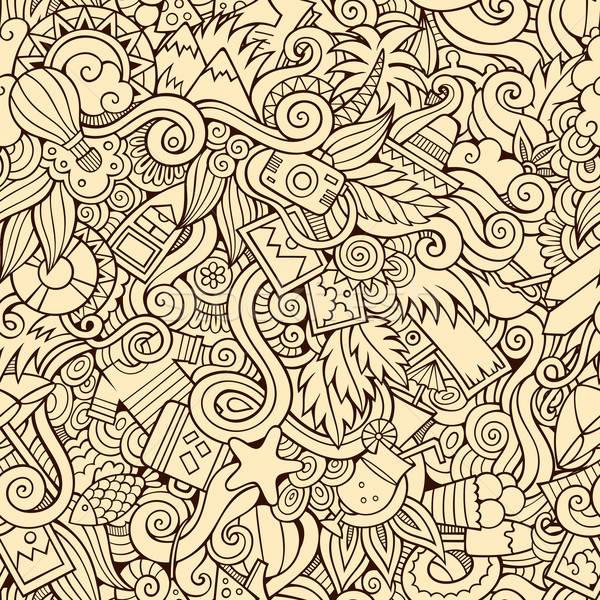Senza soluzione di continuità estate viaggio abstract pattern fiore Foto d'archivio © balabolka