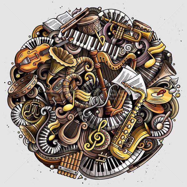 Cartoon vector doodles Classic music illustration Stock photo © balabolka