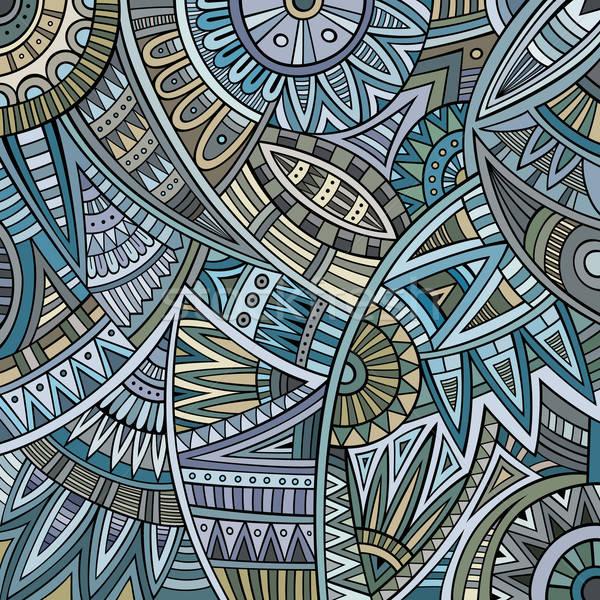 Streszczenie wektora plemiennych etnicznych wzór lata Zdjęcia stock © balabolka
