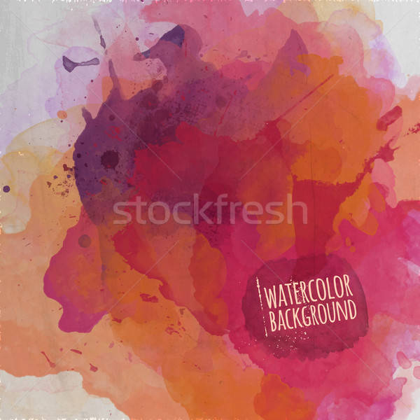 Vector watercolor paint abstract background Stock photo © balabolka
