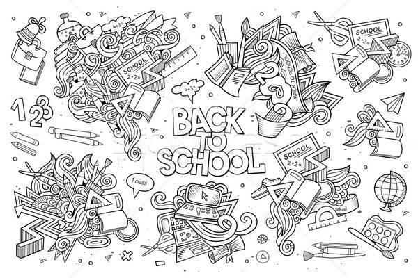 學校 教育 塗鴉 手工繪製 向量 符號 商業照片 © balabolka