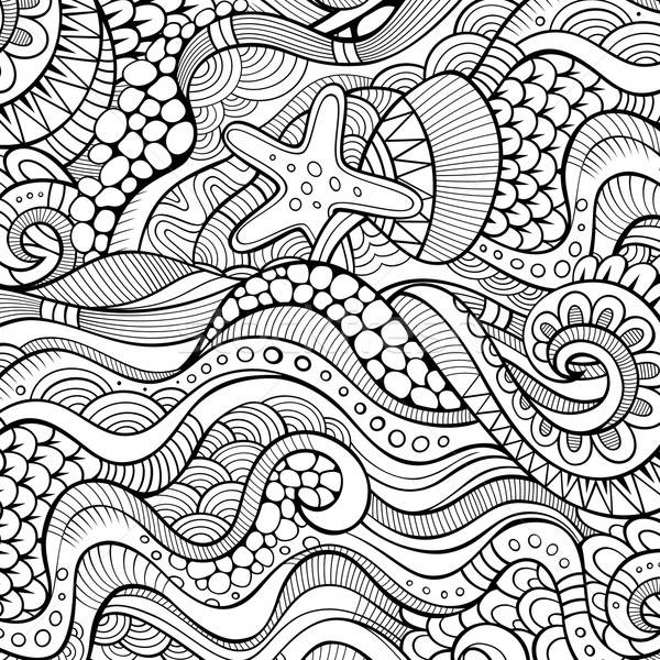 Decorativo etnica vettore abstract natura modello Foto d'archivio © balabolka