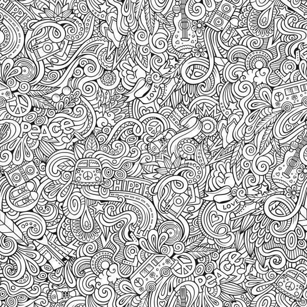 Cartoon hand-drawn Doodles on the subject of Hippie style theme  Stock photo © balabolka