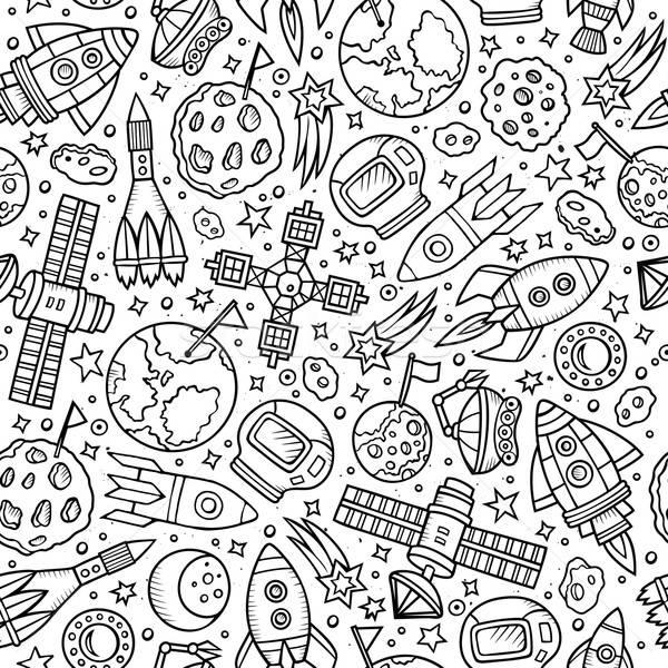 漫畫 空間 行星 手工繪製 符號 商業照片 © balabolka