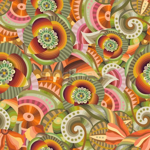 Hermosa decorativo floral patrón resumen Foto stock © balabolka