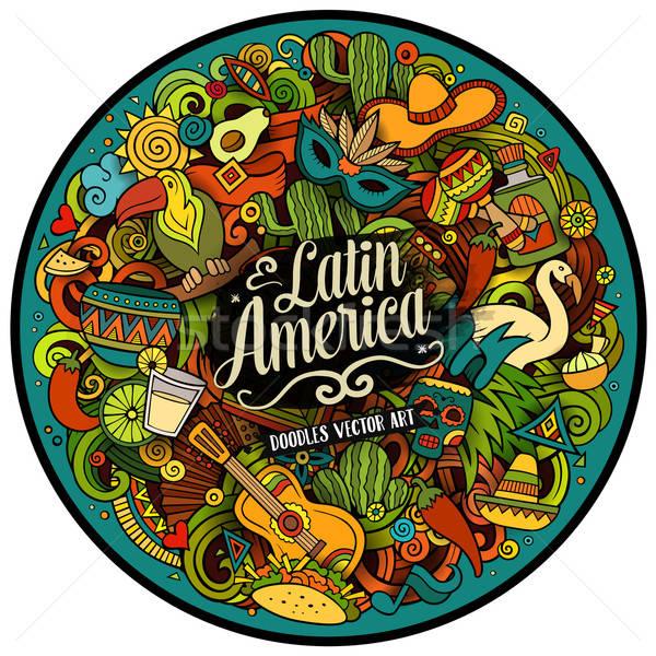 América latina vetor rabisco ilustração desenho animado Foto stock © balabolka