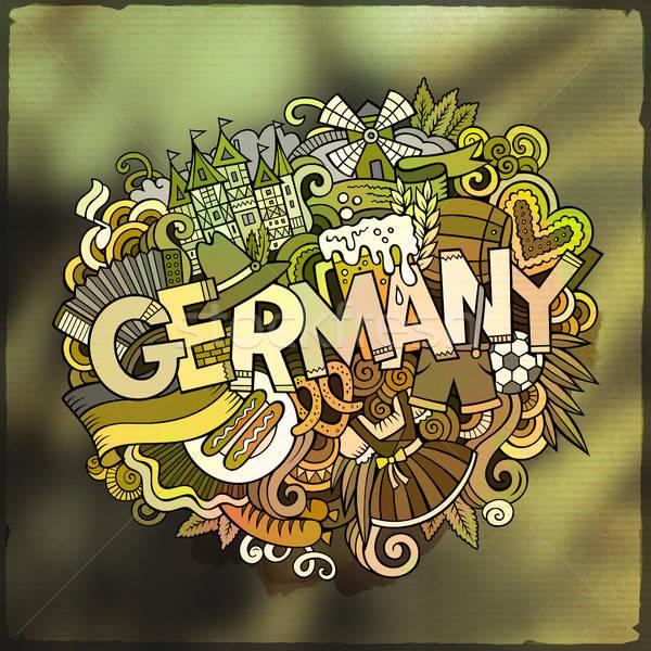 Cartoon vettore doodle parola illustrazione Foto d'archivio © balabolka