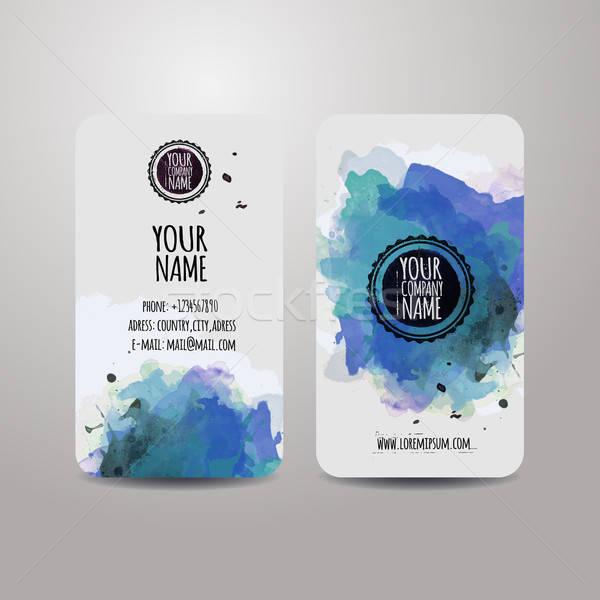 Vector template business cards Stock photo © balabolka