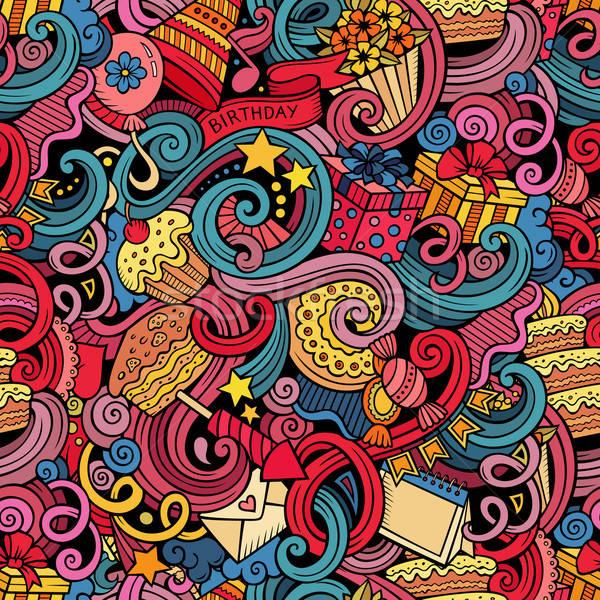 Сток-фото: Cartoon · рождения · праздников · красочный