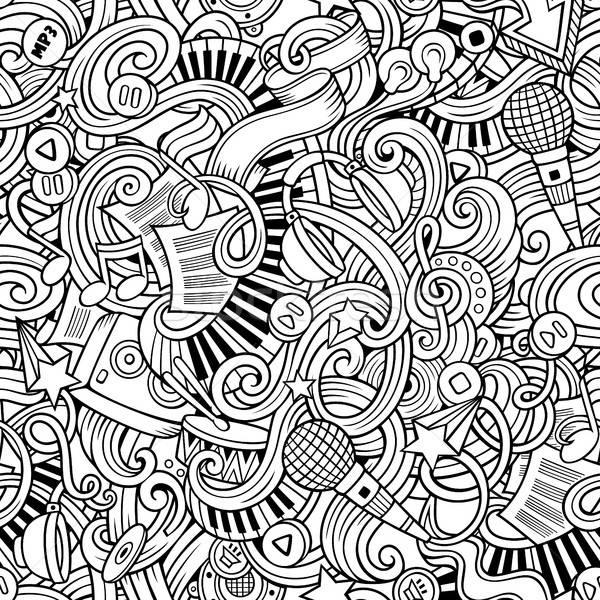 Desenho animado música estilo vetor Foto stock © balabolka