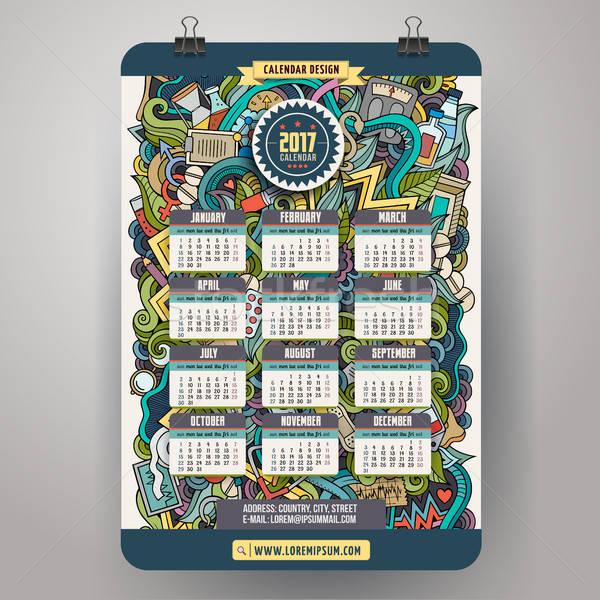Cartoon медицинской год календаря красочный Сток-фото © balabolka