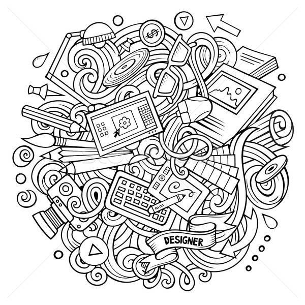 Cartoon vector doodles Art and Design illustration. Stock photo © balabolka