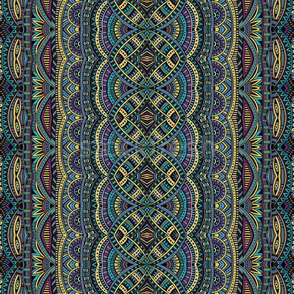Abstract tribal ethnic seamless pattern Stock photo © balabolka