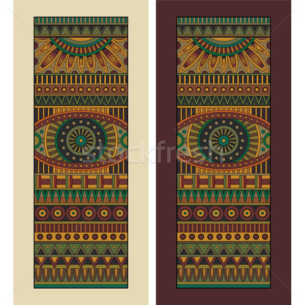 Absztrakt vektor törzsi kisebbségi szett három Stock fotó © balabolka