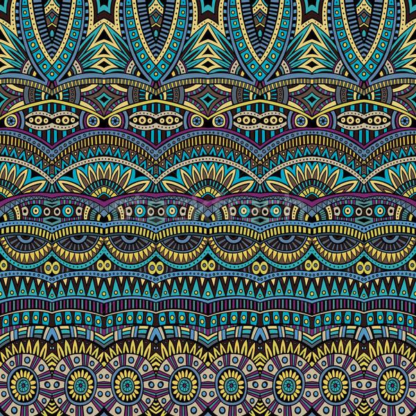 Abstrato vetor tribal étnico padrão Foto stock © balabolka
