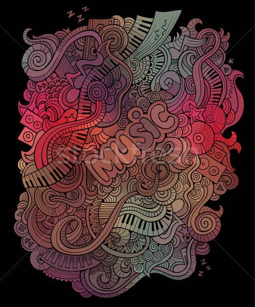 Vector doodles musical art background Stock photo © balabolka