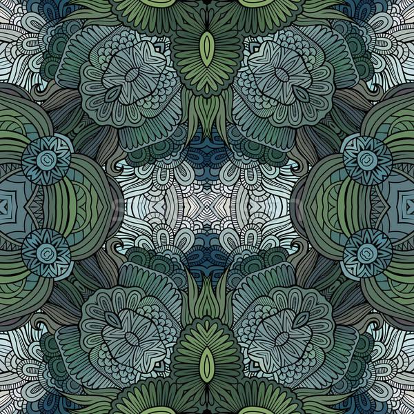 Stock fotó: Absztrakt · vektor · törzsi · kisebbségi · dekoratív · virágmintás