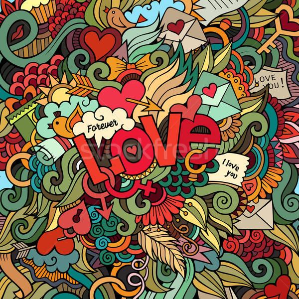 Stock fotó: Szeretet · kéz · firkák · elemek · természet · szív