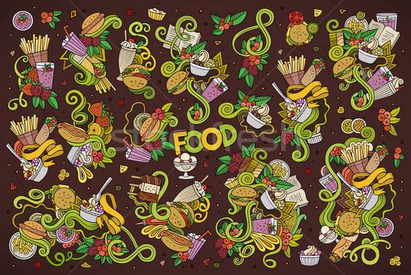 Stockfoto: Kleurrijk · vector · cartoon · ingesteld
