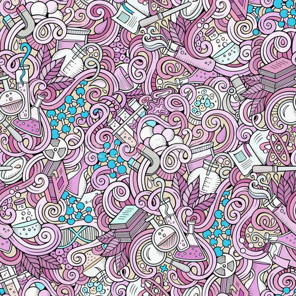Karikatür bilim karalamalar ayrıntılı nesneler Stok fotoğraf © balabolka