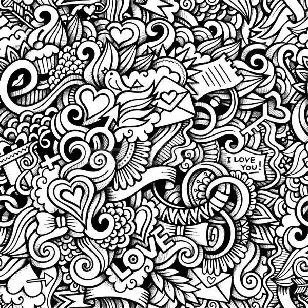Cartoon hand-drawn doodles on the subject of Love style Stock photo © balabolka