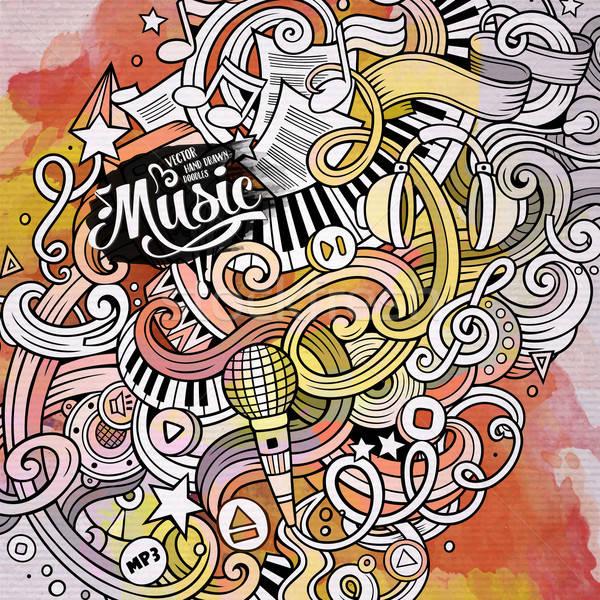 漫畫 塗鴉 音樂 插圖 復古 水彩畫 商業照片 © balabolka
