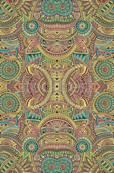 Stockfoto: Abstract · vector · Tribal · etnische · mode