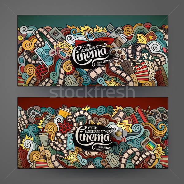 Cartoon vettore scarabocchi cinema colorato Foto d'archivio © balabolka