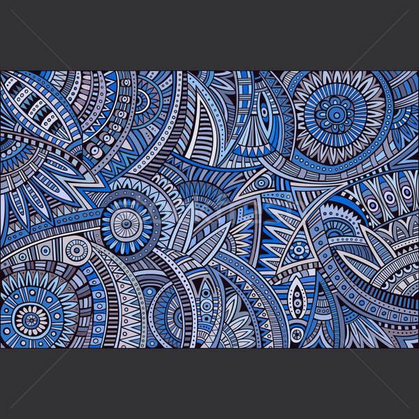 abstrakten vektor tribal ethnischen muster dekorativ vektor grafiken olga kostenko. Black Bedroom Furniture Sets. Home Design Ideas
