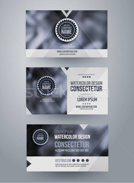 ベクトル 企業 アイデンティティ テンプレート ぼやけた 抽象的な ストックフォト © balabolka