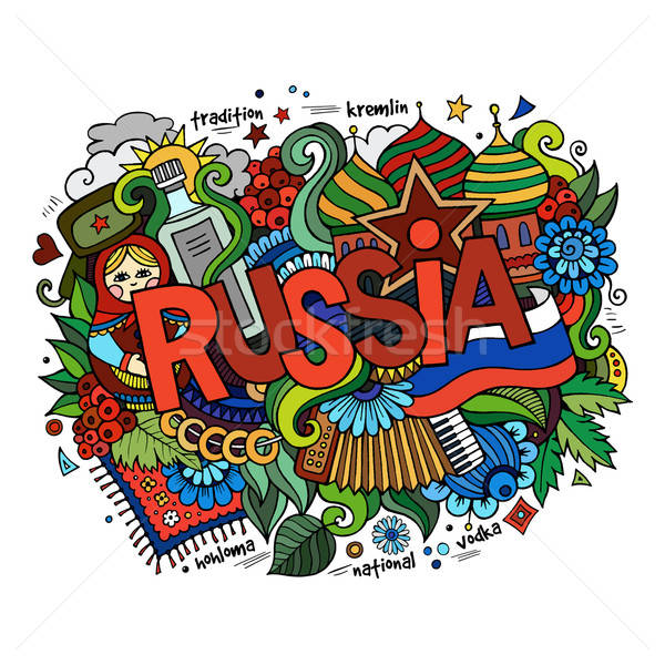 Rusland hand communie vlag star Stockfoto © balabolka