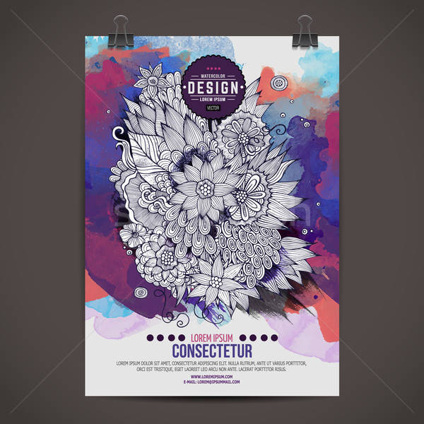 Stock photo: Vector template poster