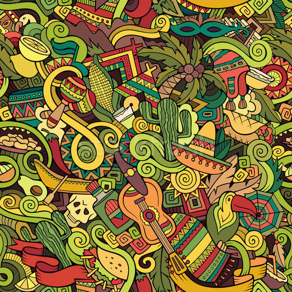 Cartoon hand-drawn Doodles on the subject of Latin America Stock photo © balabolka